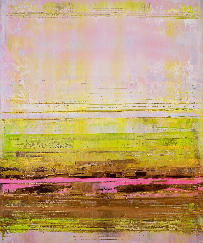 Prisma 13 - Pinker Nil | Malerei von Lali Torma | Acryl auf Leinwand, abstrakt