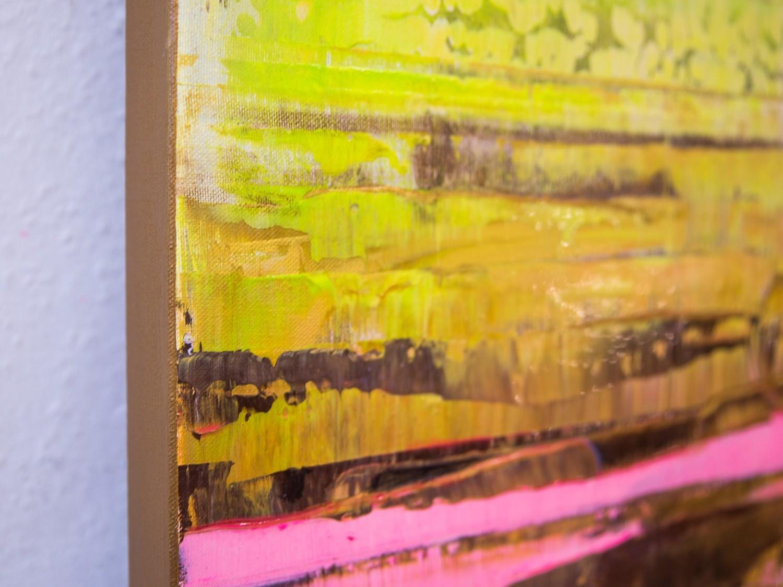 Prisma 13 - Pinker Nil | Malerei von Lali Torma | Acryl auf Leinwand, abstrakt, Detail 1