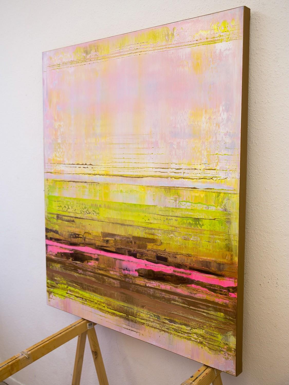 Prisma 13 - Pinker Nil | Malerei von Lali Torma | Acryl, abstrakt, Leinwand