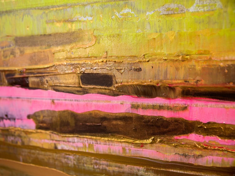 Prisma 13 - Pinker Nil | Malerei von Lali Torma | Acryl auf Leinwand, abstrakt, Detail 2