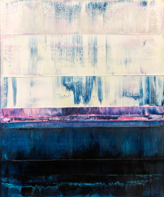 Prisma 14 – Iceberg Under Line | Malerei von Lali Torma | Acryl auf Leinwand, abstrakt