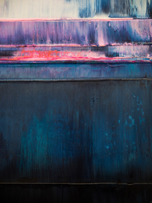 Prisma 14 – Iceberg Under Line | Malerei von Lali Torma | Acryl auf Leinwand, abstrakt, detail01