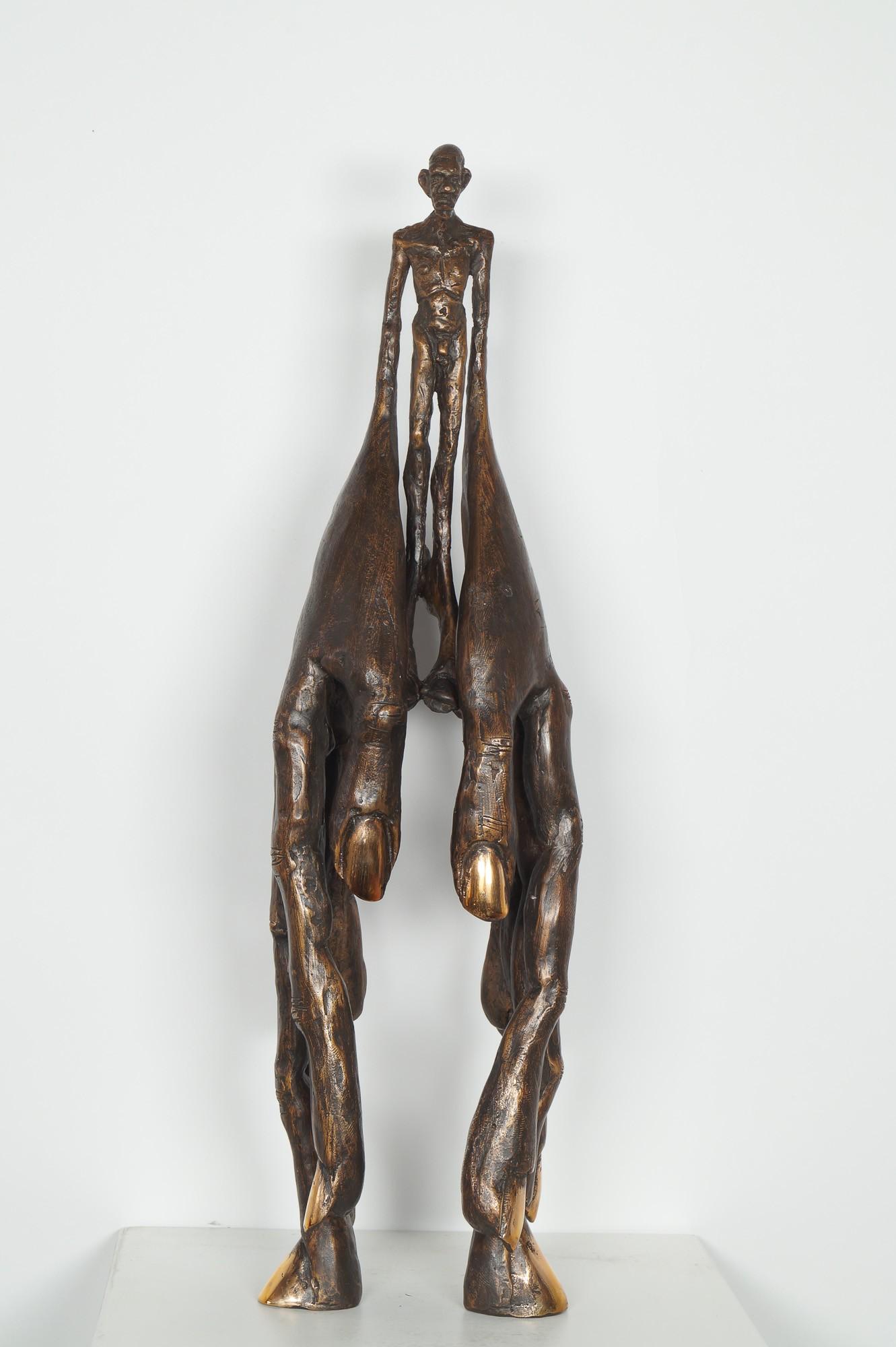 Handlanger - Bronze Plastik, Skulptur von Tim David Trillsam, Edition