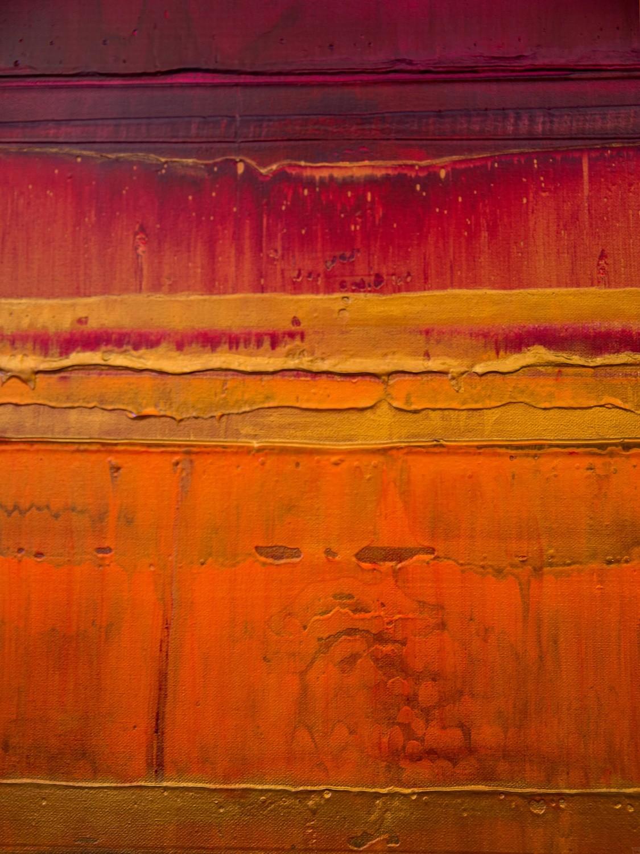 Prisma 15 – Sonnenuntergang Rubin | Malerei von Lali Torma | Acryl auf Leinwand, abstrakt, detail01