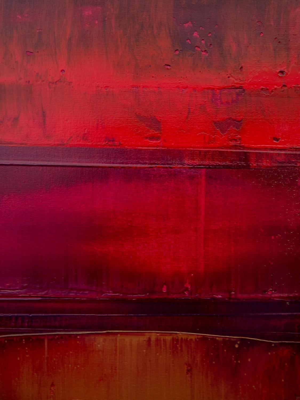 Prisma 15 – Sonnenuntergang Rubin | Malerei von Lali Torma | Acryl auf Leinwand, abstrakt, detail03