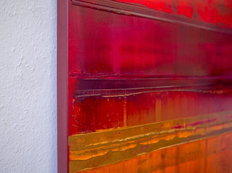 Prisma 15 – Sonnenuntergang Rubin | Malerei von Lali Torma | Acryl auf Leinwand, abstrakt, detail06