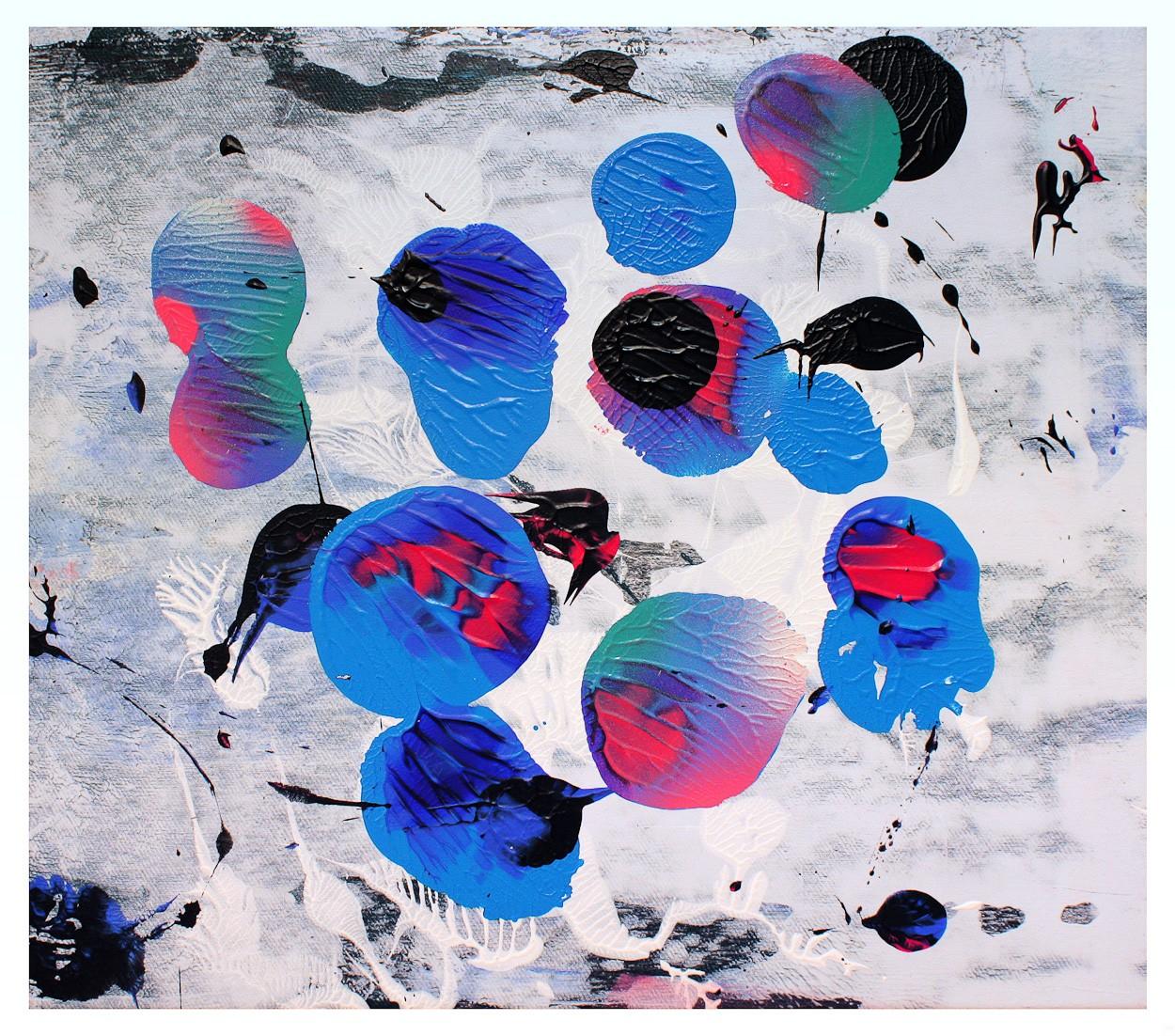 o.T. S1_24 FarbeHolz | Malerei von Malwin Faber | Acryl, Sprühlack auf Leinwand, abstrakt