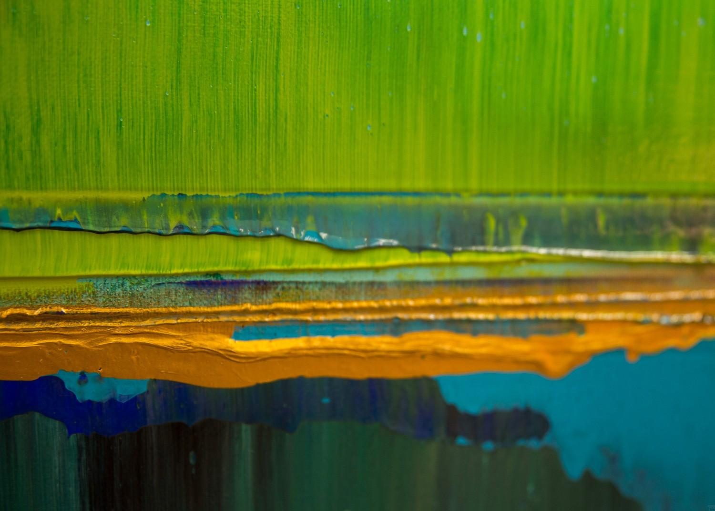 Prisma 19 – Türkise Dämmerung | Malerei von Lali Torma | Acryl auf Leinwand, abstrakt (6)