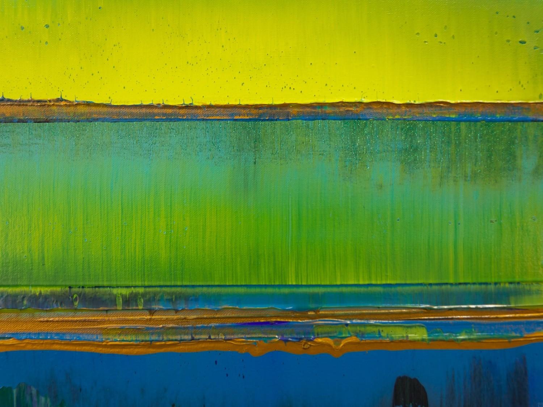 Prisma 19 – Türkise Dämmerung | Malerei von Lali Torma | Acryl auf Leinwand, abstrakt (7)
