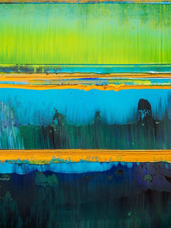 Prisma 19 – Türkise Dämmerung | Malerei von Lali Torma | Acryl auf Leinwand, abstrakt (8)