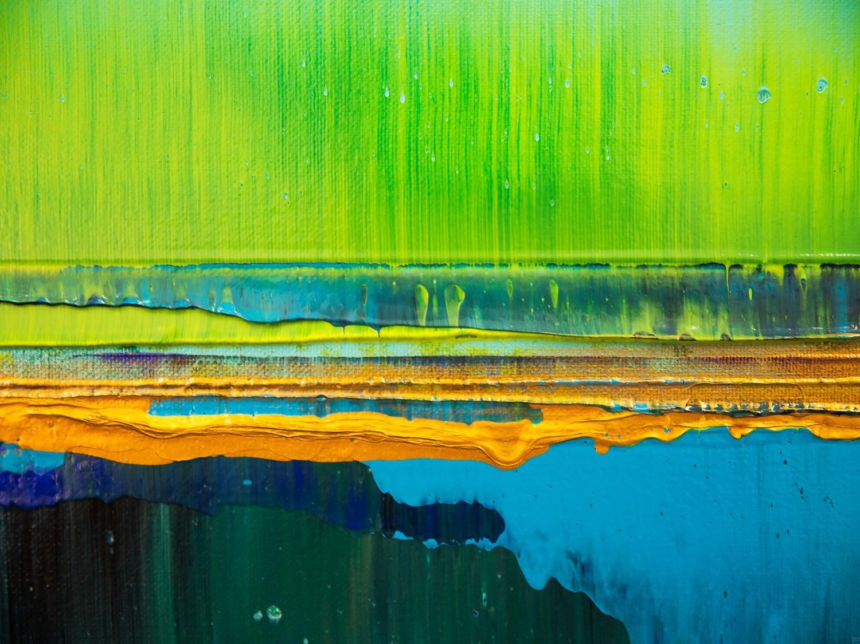 Prisma 19 – Türkise Dämmerung | Malerei von Lali Torma | Acryl auf Leinwand, abstrakt (1)