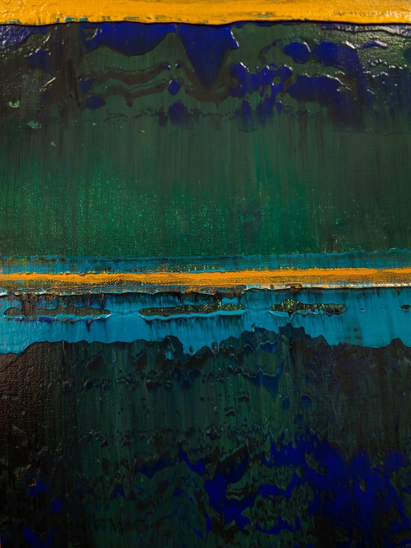 Prisma 19 – Türkise Dämmerung | Malerei  von Lali Torma | Acryl auf Leinwand, abstrakt (9)