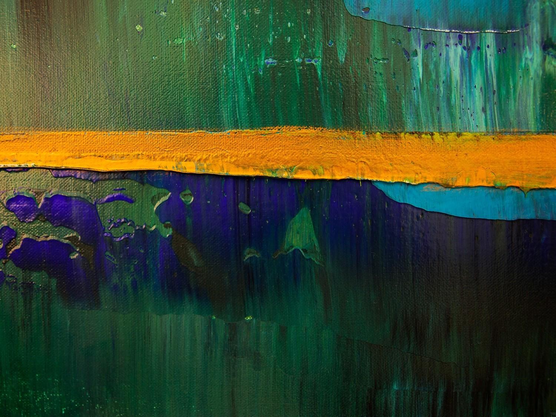 Prisma 19 – Türkise Dämmerung | Malerei von Lali Torma | Acryl auf Leinwand, abstrakt (5)