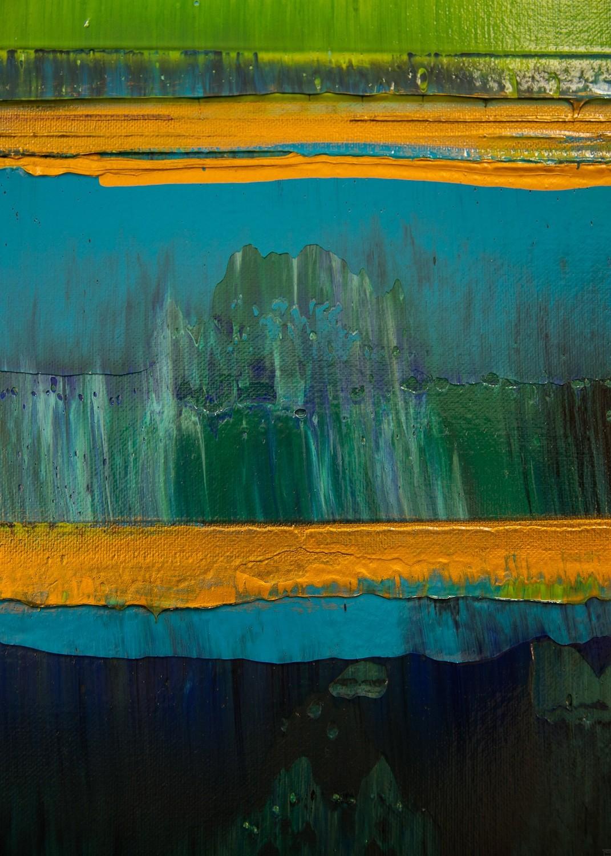 Prisma 19 – Türkise Dämmerung | Malerei von Lali Torma | Acryl auf Leinwand, abstrakt (3)