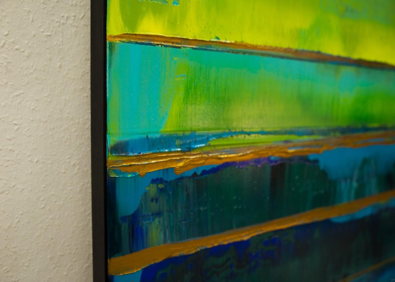 Prisma 19 – Türkise Dämmerung | Malerei von Lali Torma | Acryl auf Leinwand, abstrakt (4)
