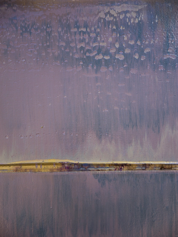 Prisma 17 – Amarant Dunst | Malerei von Lali Torma | Acryl auf Leinwand, abstrakt, Detail 8
