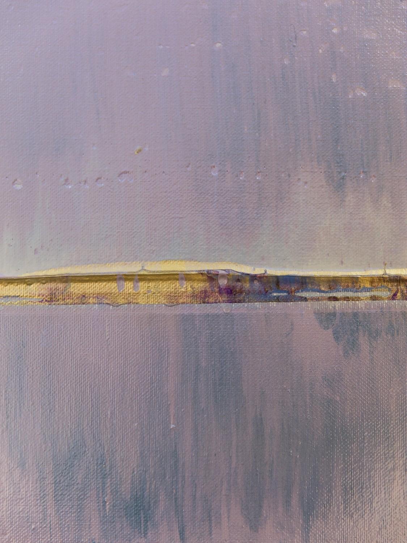 Prisma 17 – Amarant Dunst | Malerei von Lali Torma | Acryl auf Leinwand, abstrakt, Detail 9