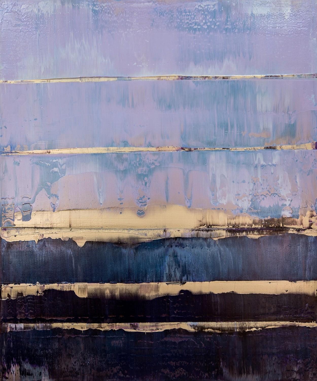 Prisma 17 – Amarant Dunst | Malerei von Lali Torma | Acryl auf Leinwand, abstrakt