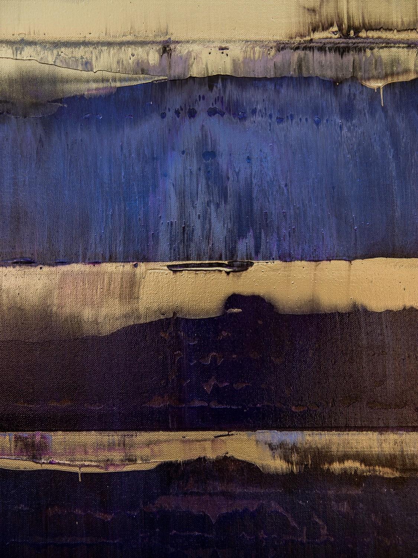 Prisma 17 – Amarant Dunst | Malerei von Lali Torma | Acryl auf Leinwand, abstrakt, Detail 3