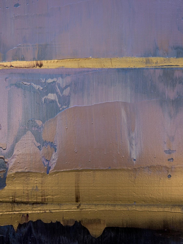Prisma 17 – Amarant Dunst | Malerei von Lali Torma | Acryl auf Leinwand, abstrakt, Detail 2