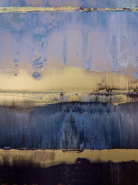 Prisma 17 – Amarant Dunst | Malerei von Lali Torma | Acryl auf Leinwand, abstrakt, Detail 6