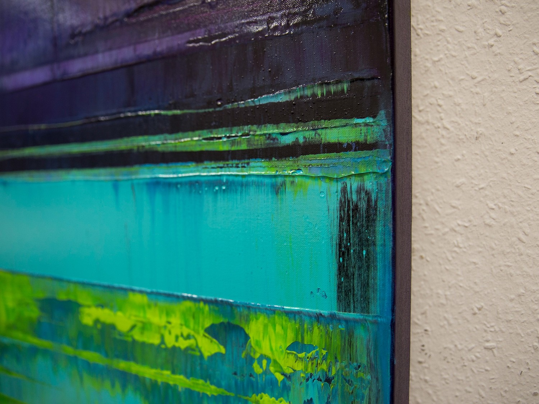 Prisma 16 – Verbotener Fluss | Malerei von Lali Torma | Acryl auf Leinwand, abstrakt (1)
