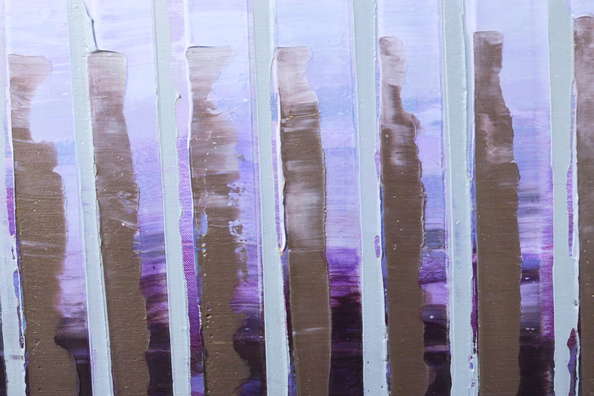 Pink November | Malerei von Lali Torma | Acryl auf Leinwand, abstrakt, Detail 1