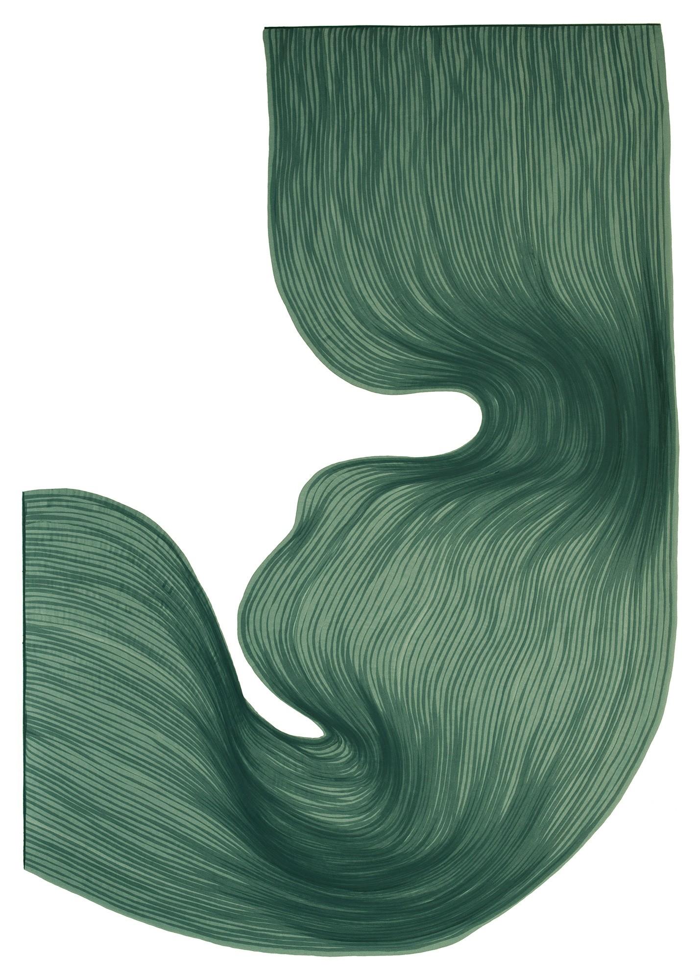 Pine Frost | Lali Torma | Zeichnung | Kalligraphietusche auf Papier