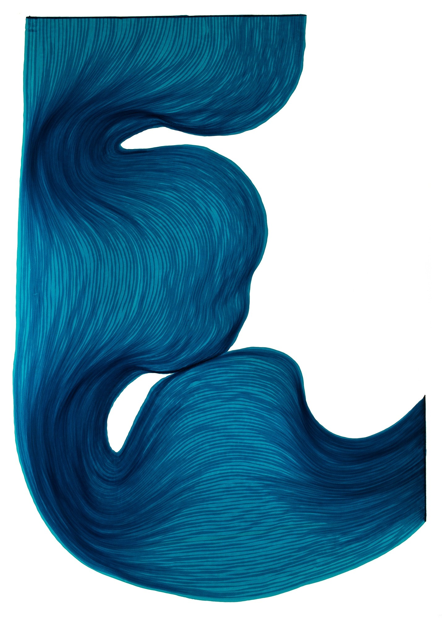 Rich Blue | Lali Torma | Zeichnung | Kalligraphietusche auf Papier