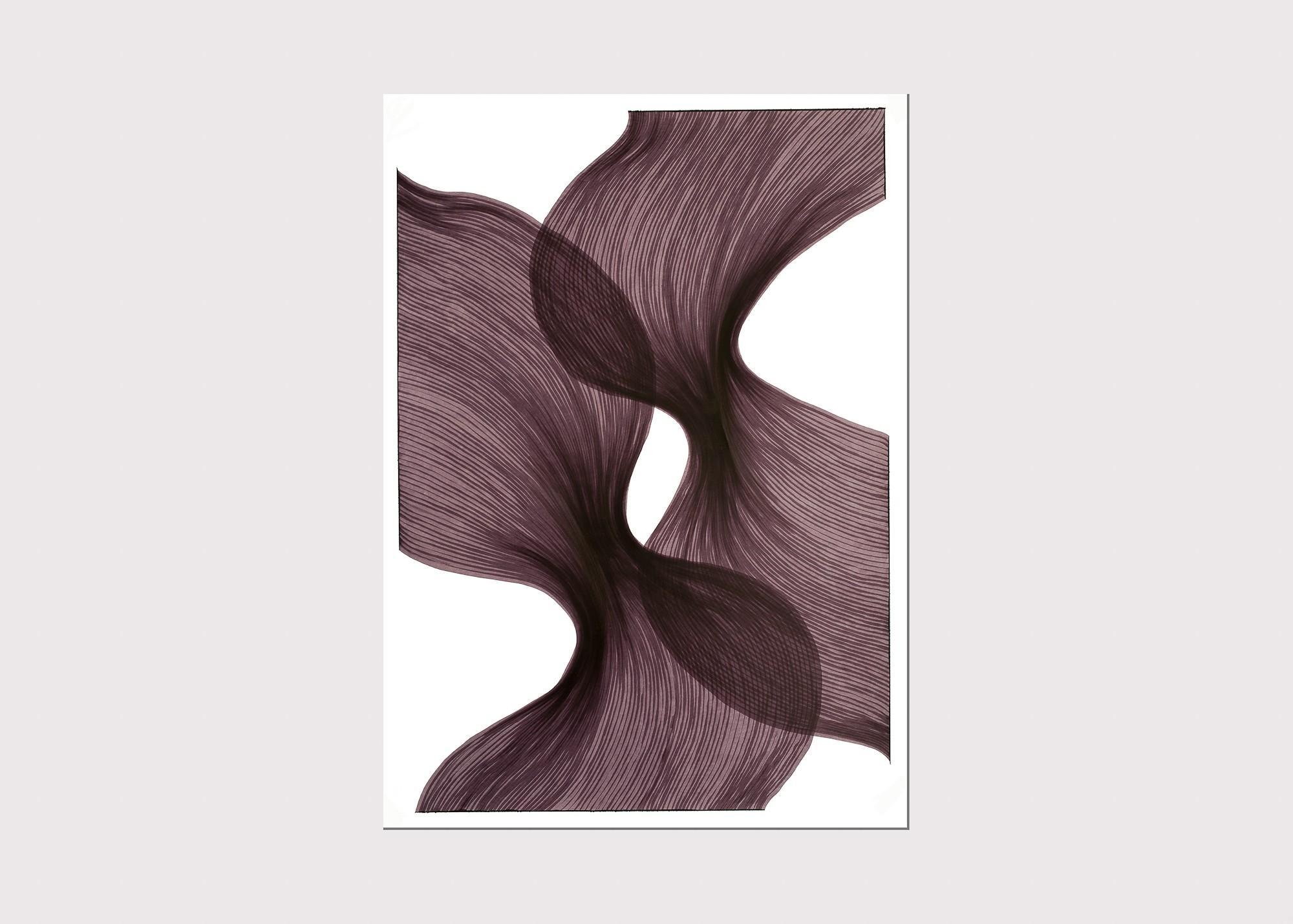 Venice Sheer Folds | Lali Torma | Zeichnung | Kalligraphietusche auf Papier - 2