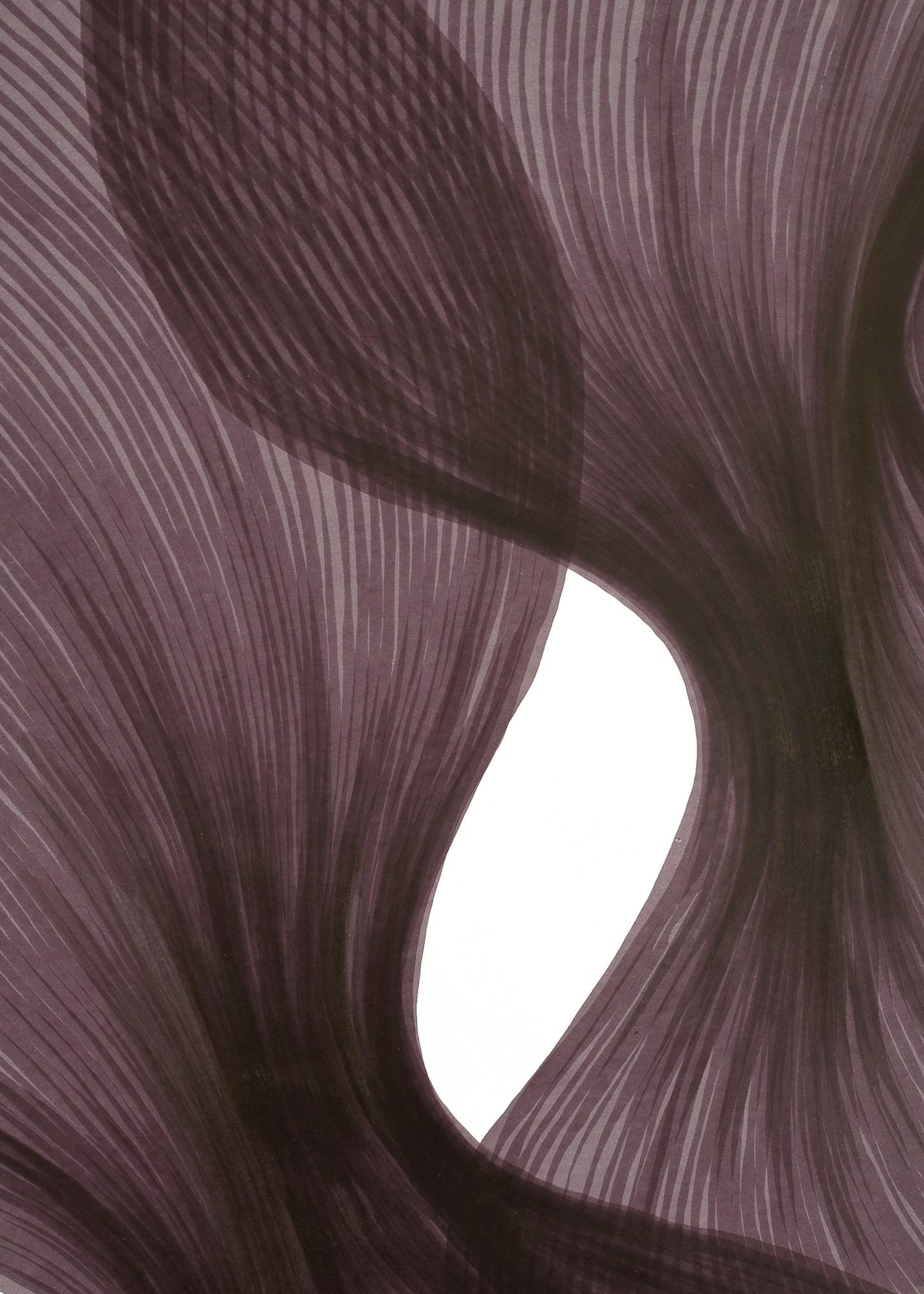 Venice Sheer Folds | Lali Torma | Zeichnung | Kalligraphietusche auf Papier, Detail