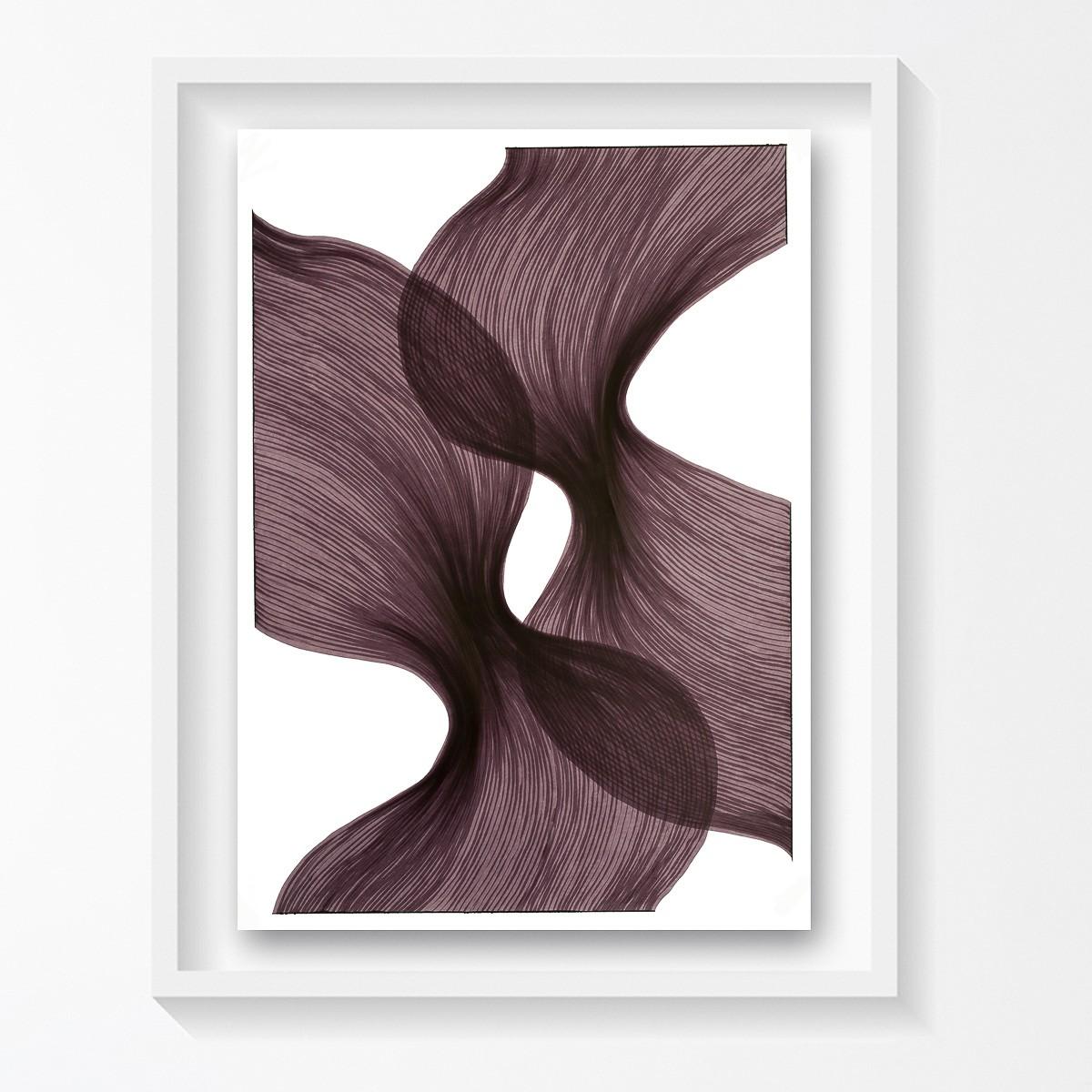 Venice Sheer Folds | Lali Torma | Zeichnung | Kalligraphietusche auf Papier, gerahmt