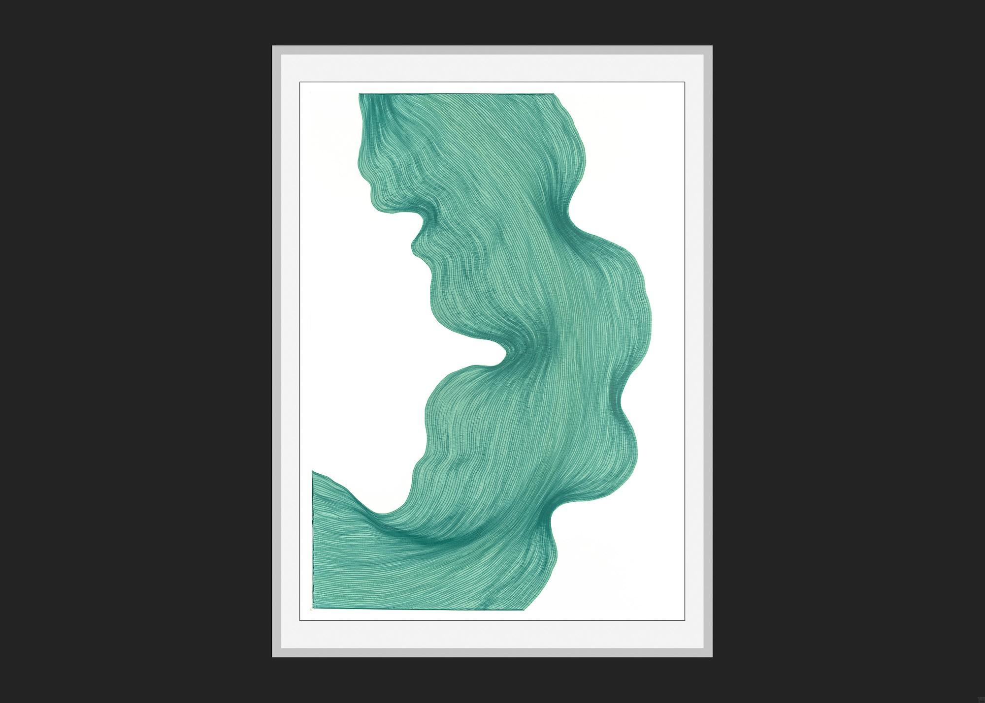 Icy Green | Lali Torma | Zeichnung | Kalligraphietusche auf Papier - 3