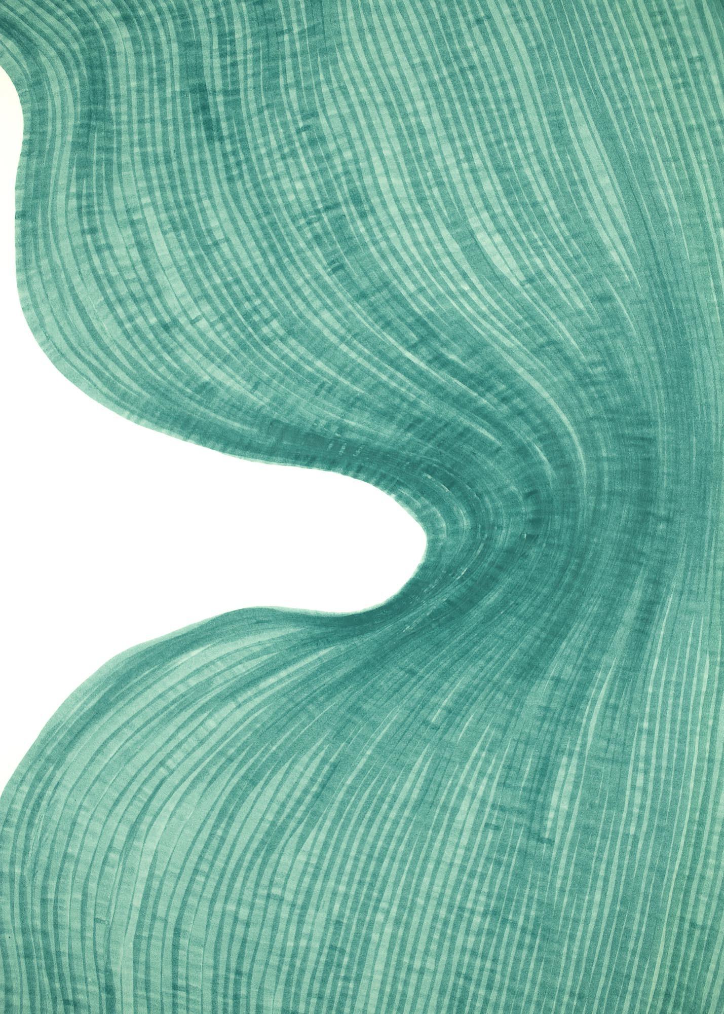 Icy Green | Lali Torma | Zeichnung | Kalligraphietusche auf Papier - 2