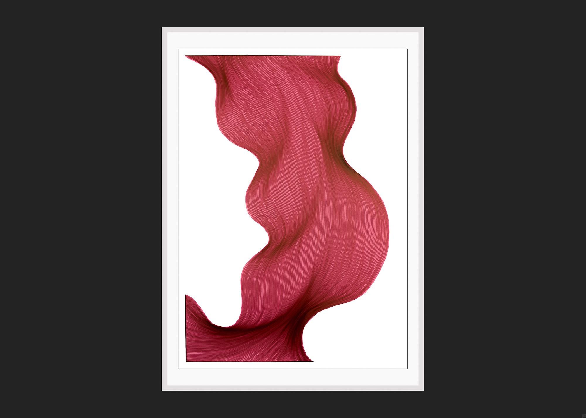Coulis de Framboise | Lali Torma | Zeichnung | Kalligraphietusche auf Papier - 3