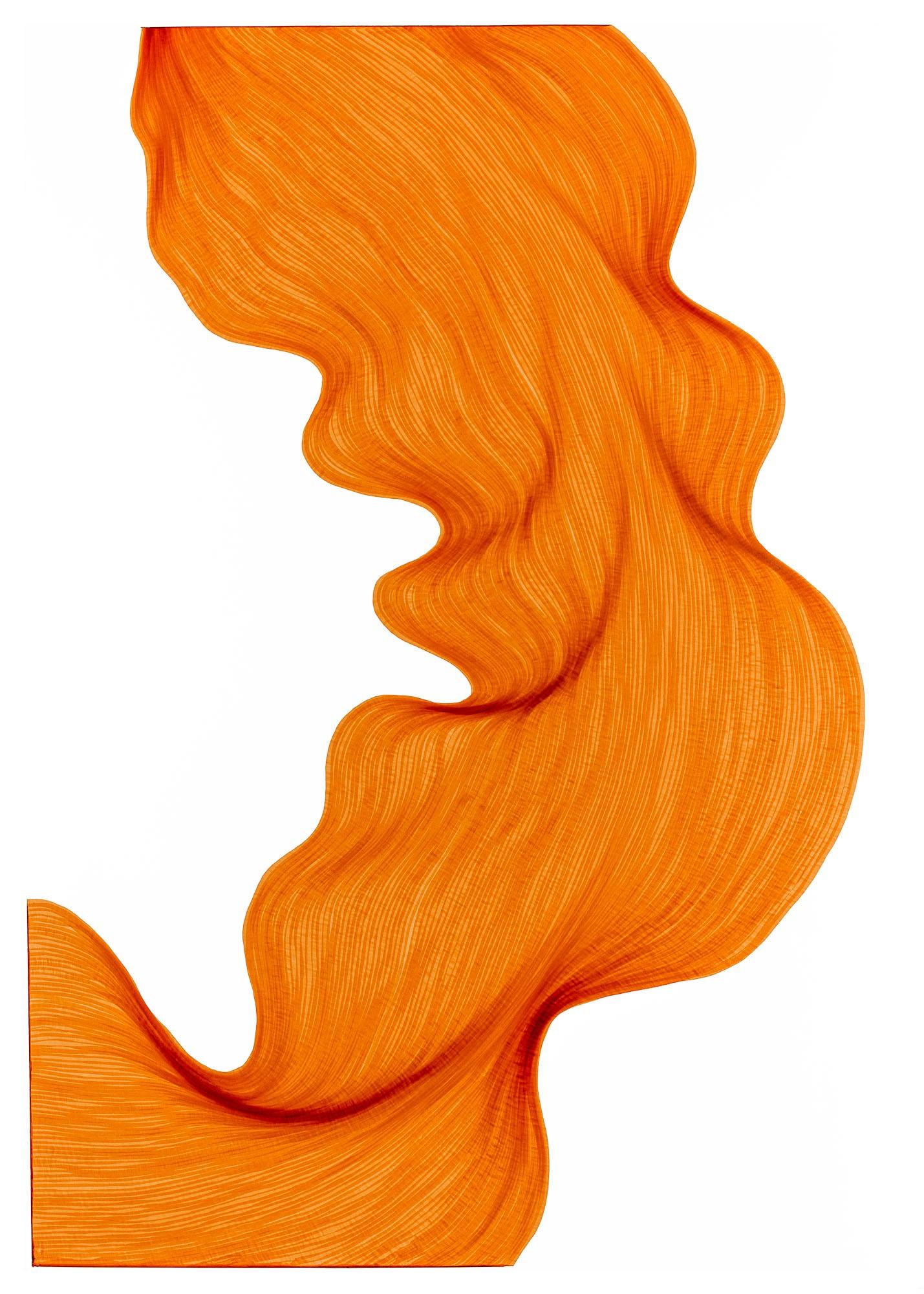 Bubbly Orange   Lali Torma   Zeichnung   Kalligraphie Tinte auf Papier