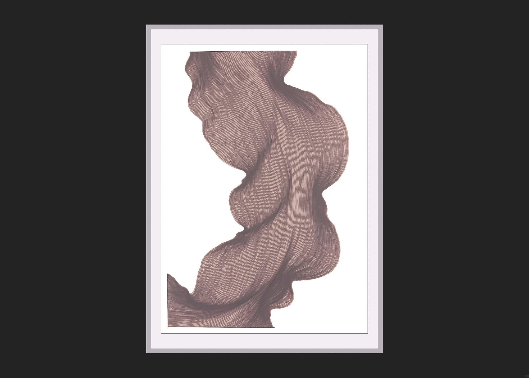 Old Lavender | Lali Torma | Zeichnung | Kalligraphie Tinte auf Papier - gerahmt