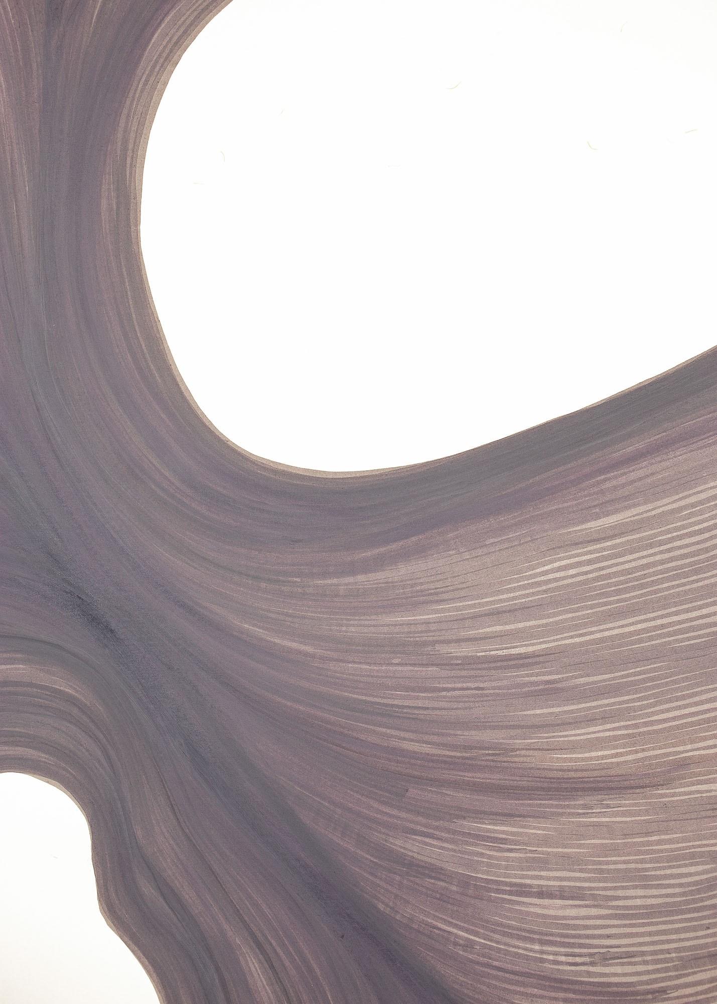 Smokey Lavender Escape | Lali Torma | Zeichnung | Kalligraphie Tinte auf Papier - Detail 2