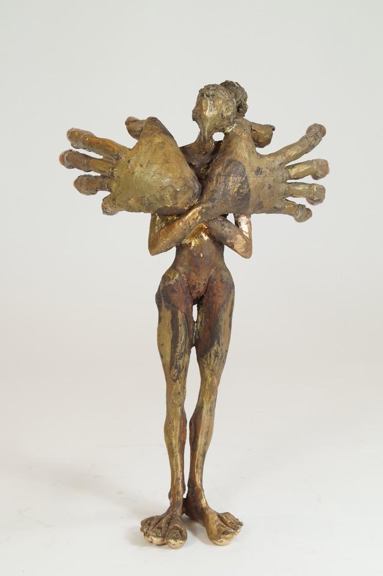Fräulein - Bronze Plastik - Skulptur frontal - Tim David Trillsam Bildhauer Künstler