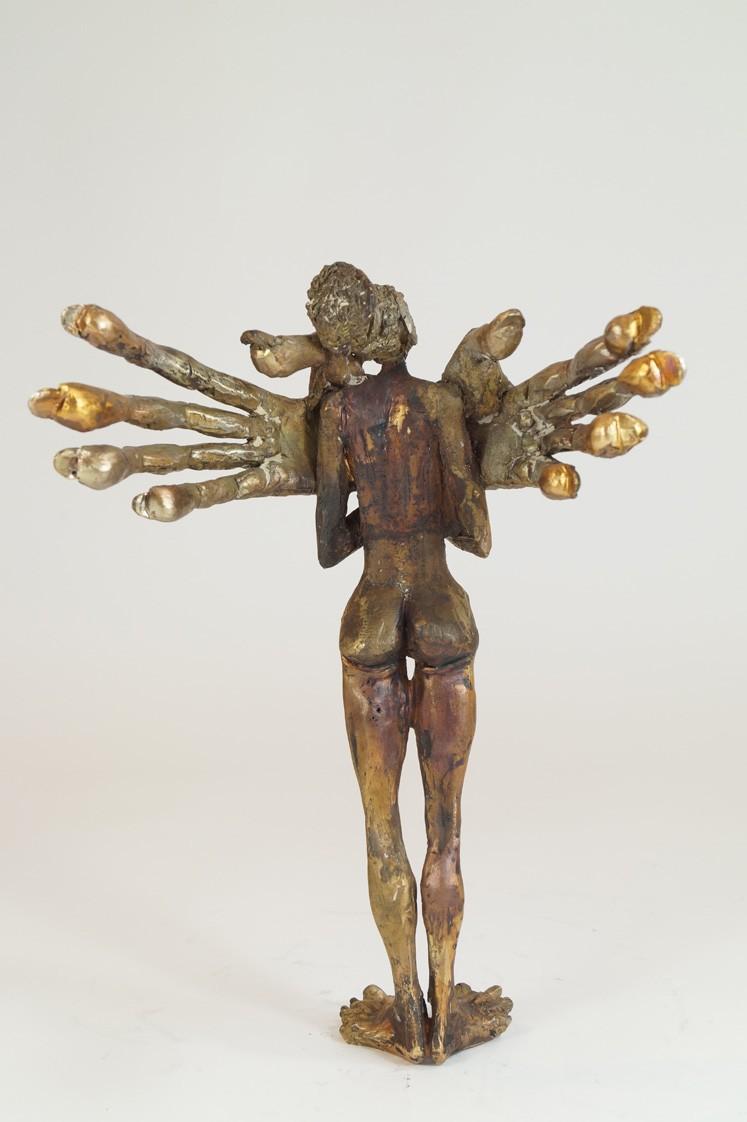 Fräulein - Bronze Plastik - Skulptur Rückseite - Tim David Trillsam Bildhauer Künstler