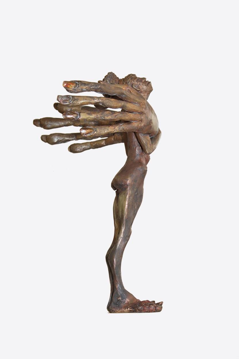 Fräulein - Bronze Plastik - Skulptur von links - Tim David Trillsam Bildhauer Künstler