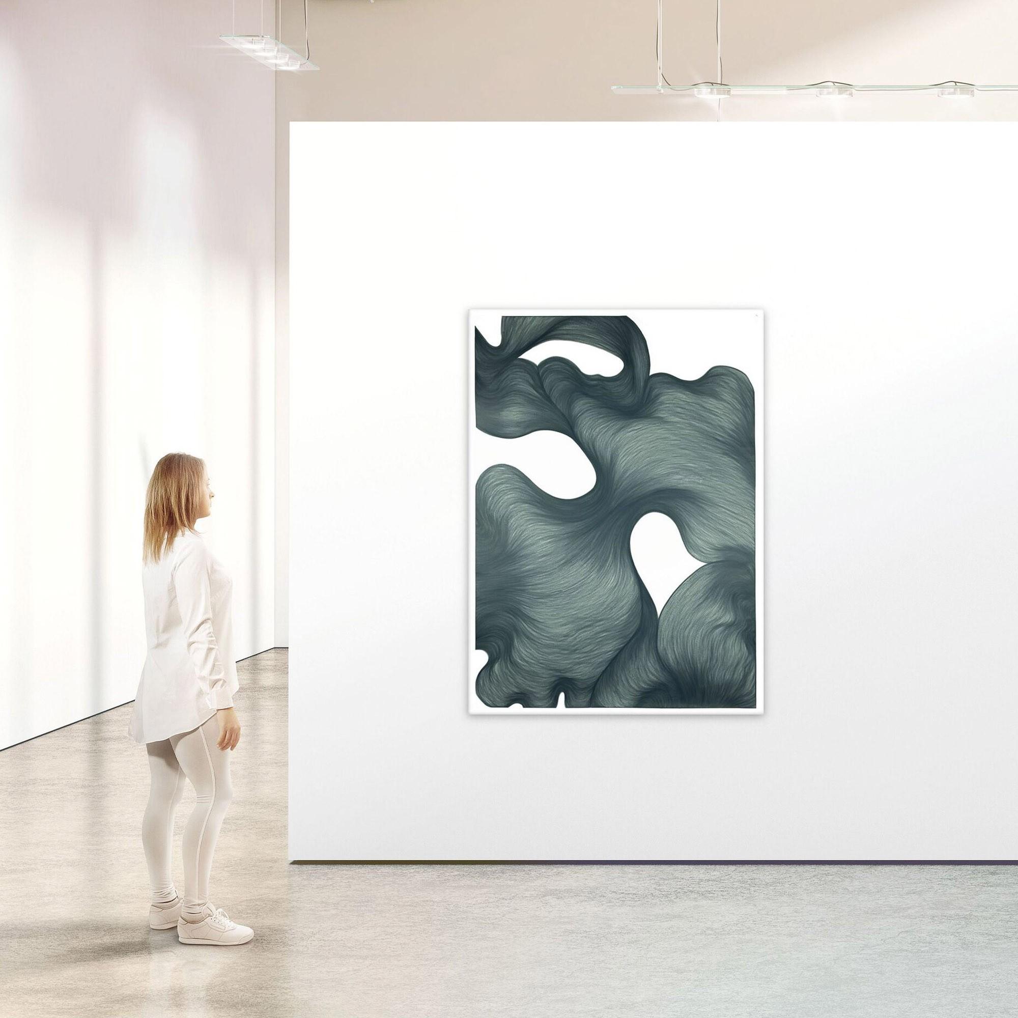 Farfala di fumo | Lali Torma | Zeichnung | Kalligraphie Tinte auf Papier - Galerieansicht 2