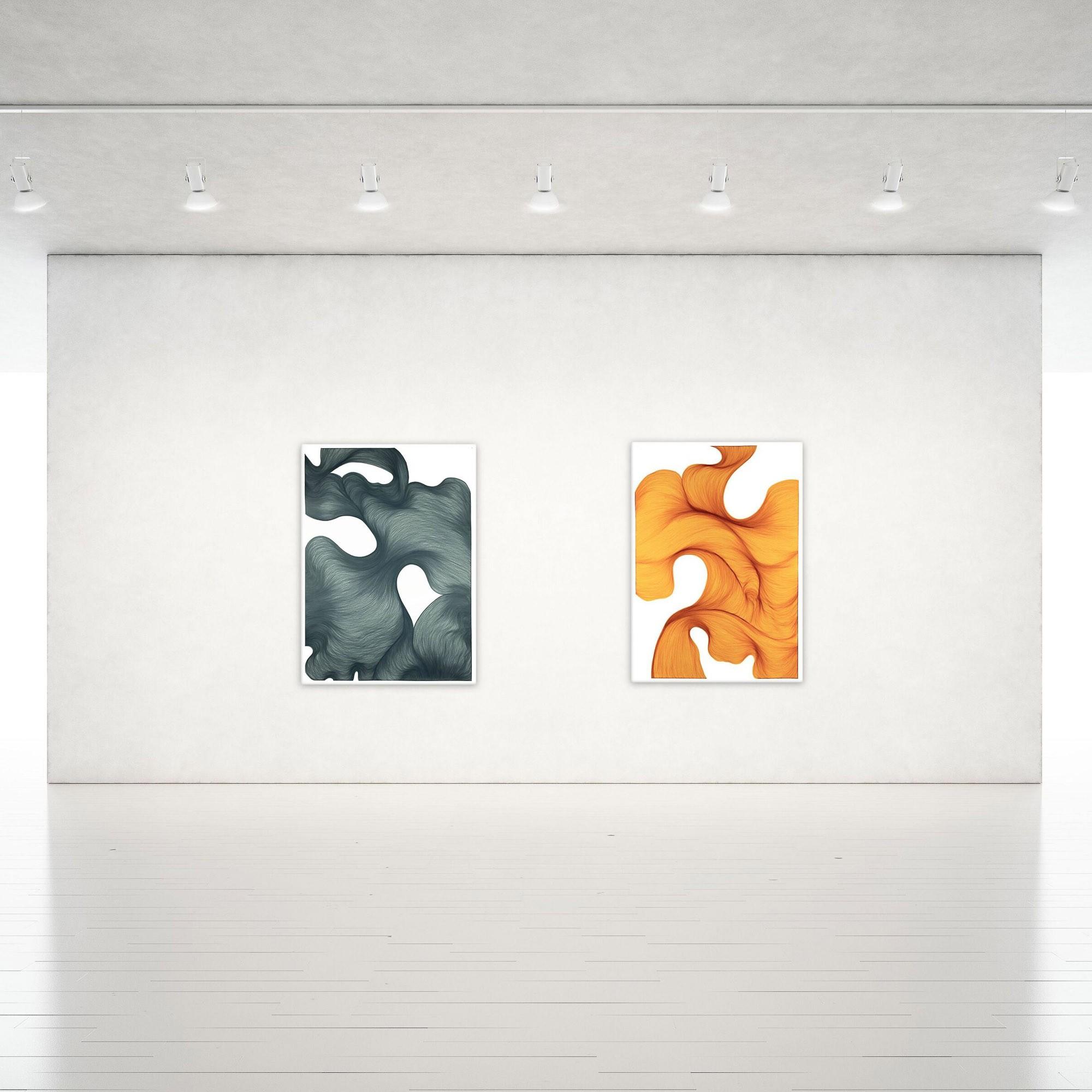 Farfala di fumo | Lali Torma | Zeichnung | Kalligraphie Tinte auf Papier - Galerieansicht