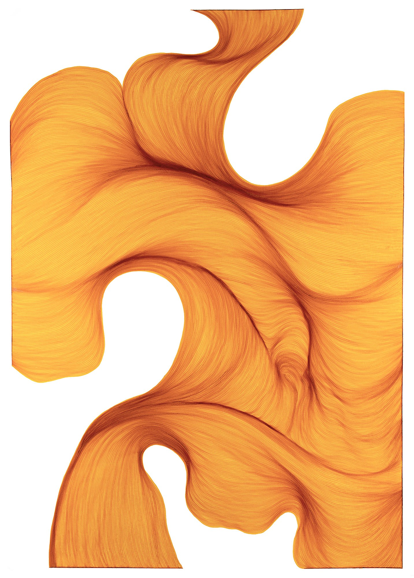 Sunlight Melt | Lali Torma | Zeichnung | Kalligraphie Tinte auf Papier