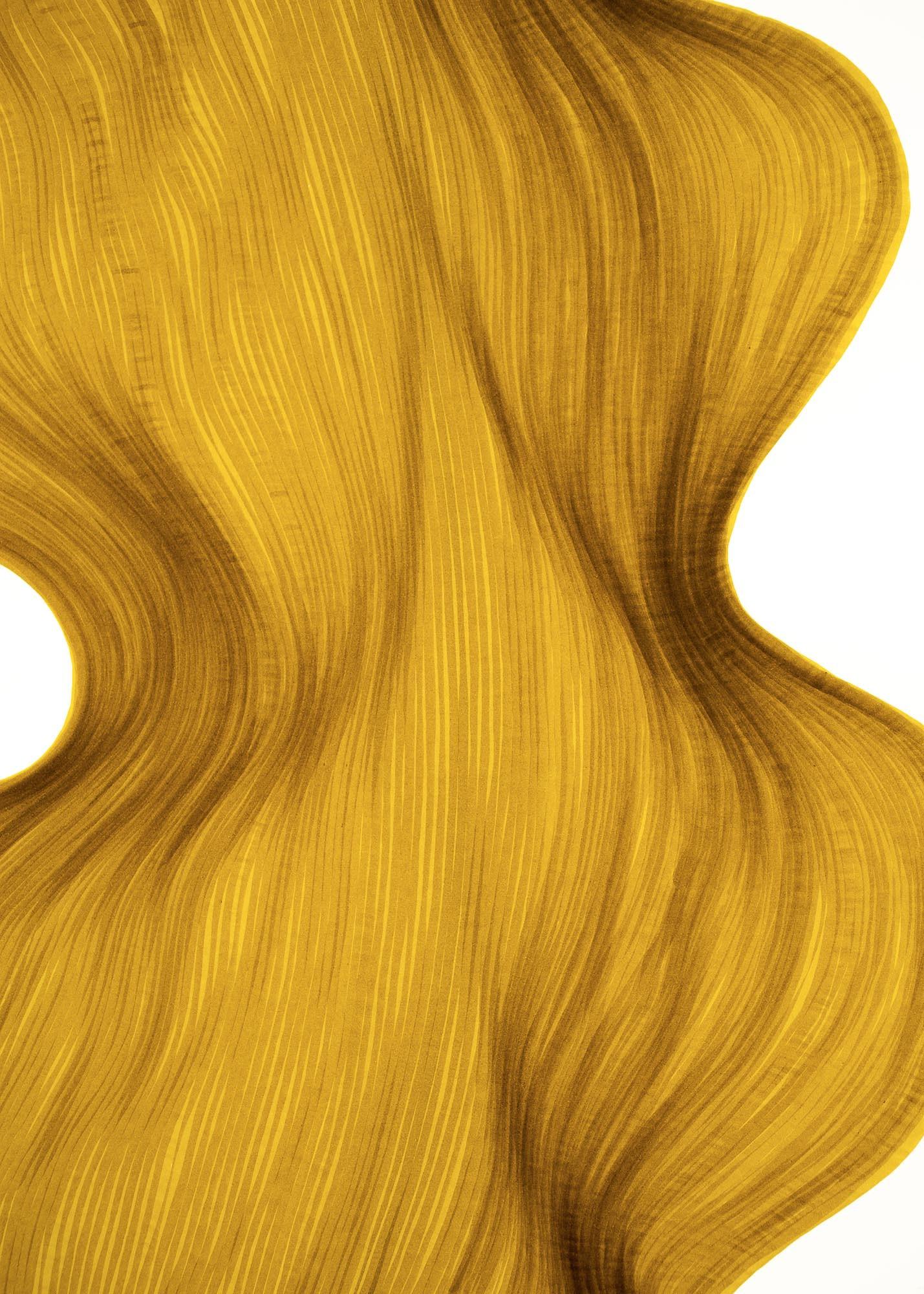 Old Gold | Lali Torma | Zeichnung | Kalligraphie Tinte auf Papier - Detail