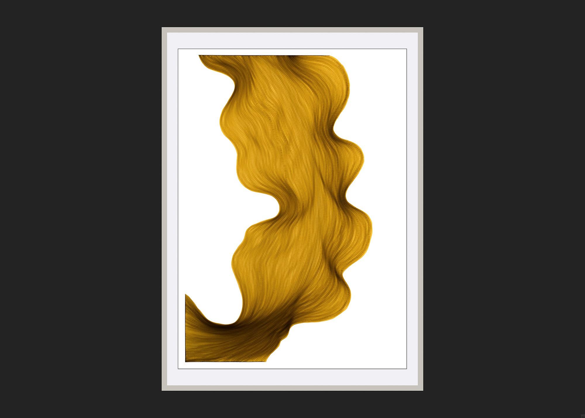 Old Gold | Lali Torma | Zeichnung | Kalligraphie Tinte auf Papier - gerahmt