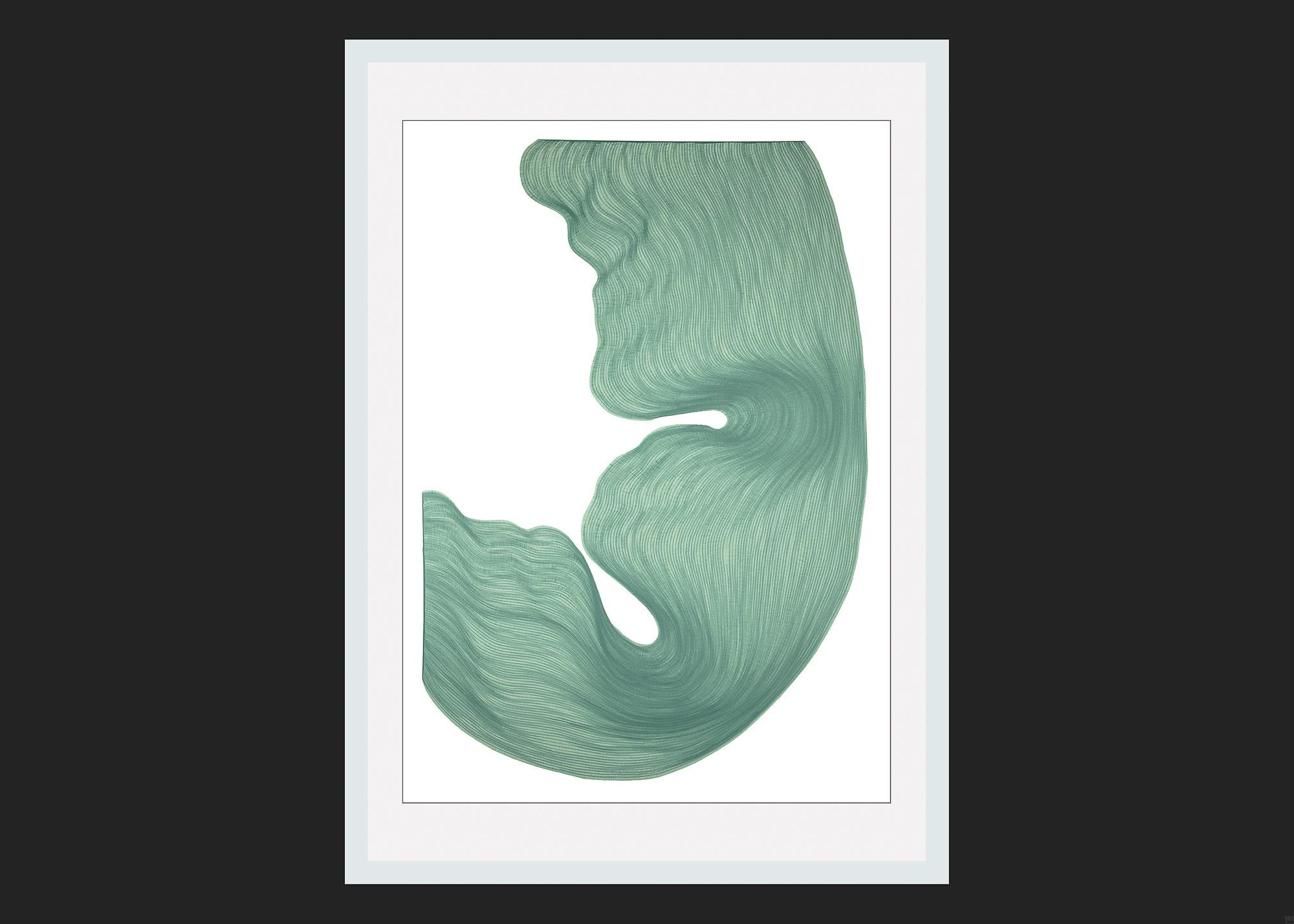 Burly Alabaster | Lali Torma | Zeichnung | Kalligraphie Tinte auf Papier - gerahmt