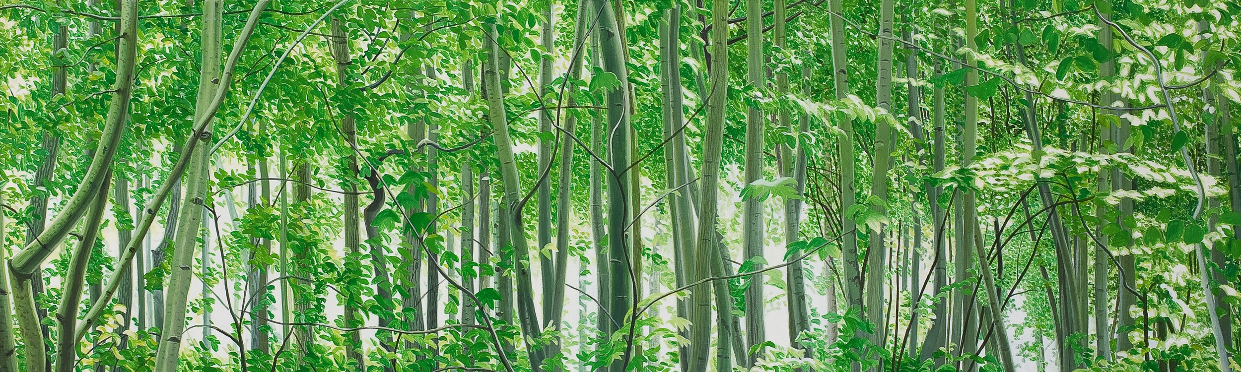 Mythischer Wald | Malerei von Sven Wiebers | Acryl auf Baumwolle, realistisch