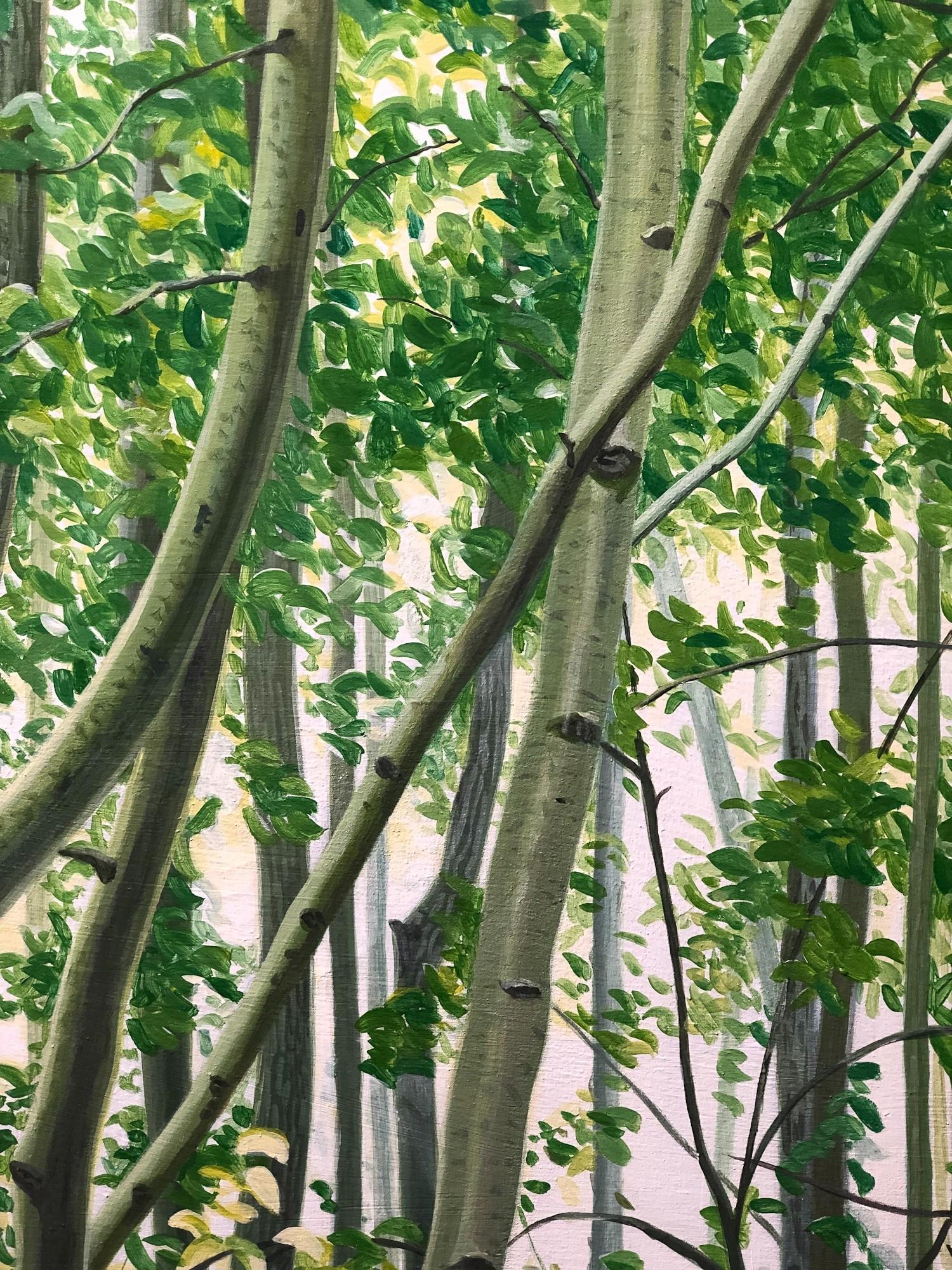 Mythischer Wald | Detail, Malerei von Sven Wiebers | Acryl auf Baumwolle