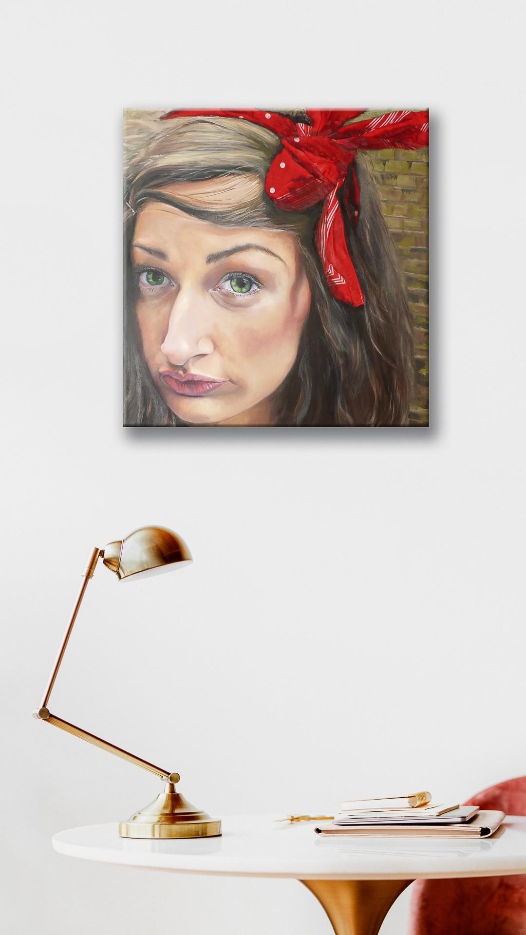 Nora von Rotenbaum | Malerei von Eva Nordal | Öl, Textil auf Leinwand, realistisch - 2